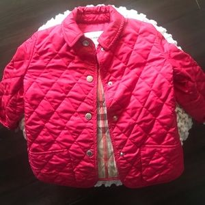 Burberry Quilted Jacket in Raspberry